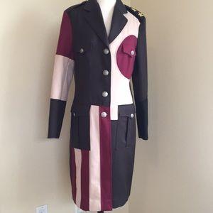 Moschino military coat size 10